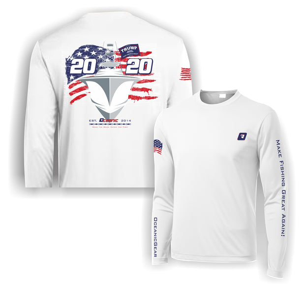 "Sporty 2020 ""Trump MFGA"" Long Sleeve Performance Shirt"