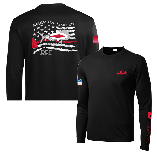 "America United ""Firefighter"" Long Sleeve Performance Shirt"