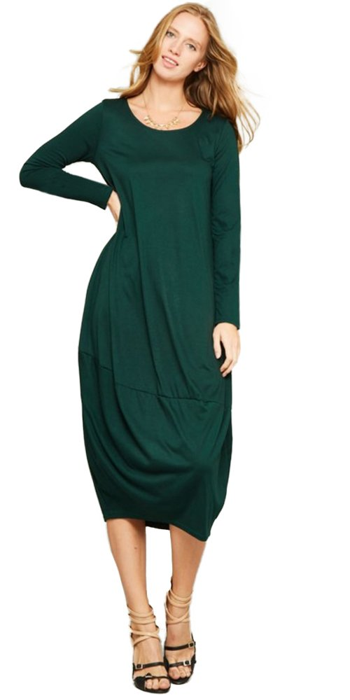 Jersey Cocoon Bubble Midi Dress