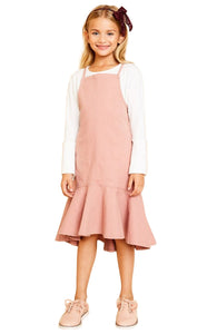 Kids Midi Dress with Ruffle Hem