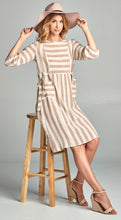 Nautical-Inspired Striped Midi Dress