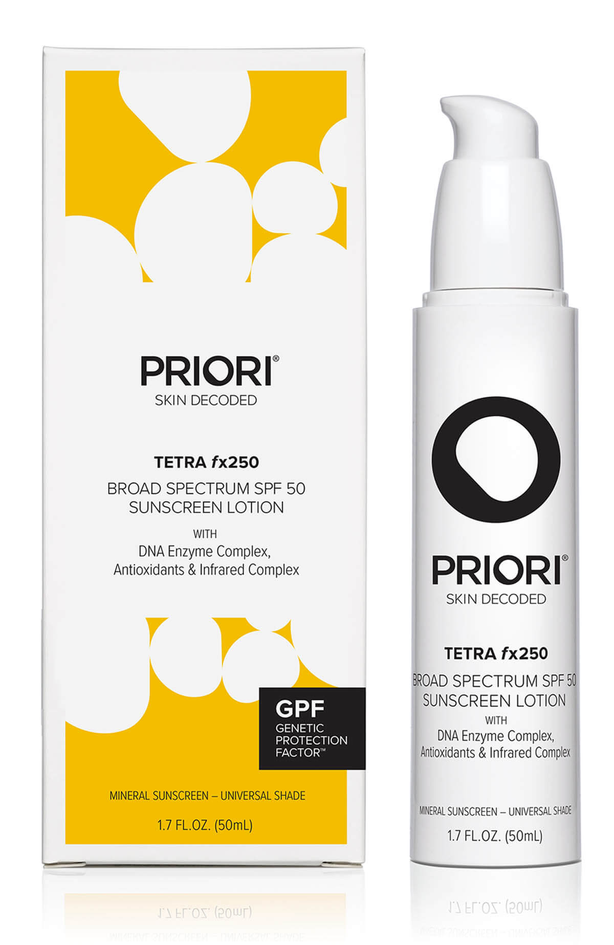 Priori Tetra Mineral Sunscreen - fx250