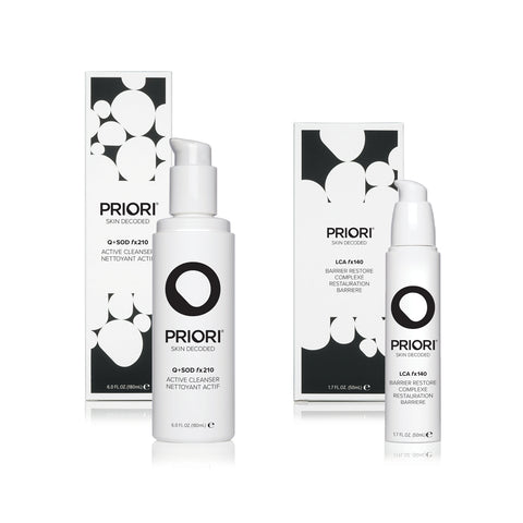 Renew + Protect Cleanser and Moisturizer Set | Priori Holiday Gifts