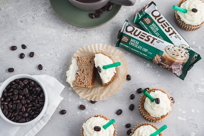 Make the Most of Your Mocha Chocolate Chip Quest Bar with These Mocha Cupcakes
