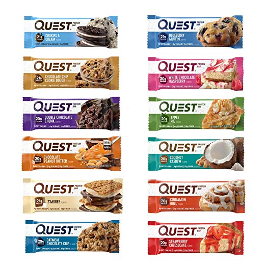 Quest Nutrition Protein Bar Adventure Variety Pack. (12 Count)