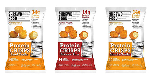 Shrewd Food Keto Protein Crisps | High Protein, Low Carb, Gluten Free Snack 6 Count