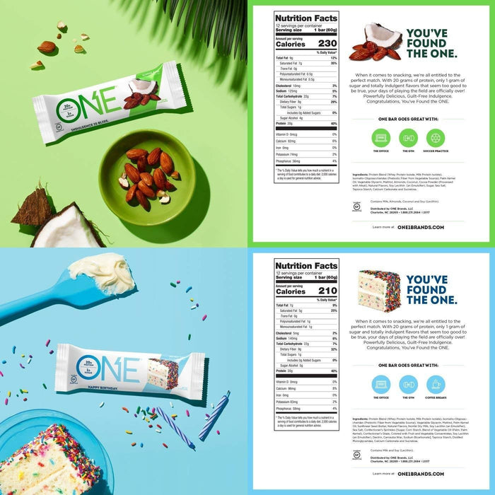 ONE Protein Bar, 12 Flavor Super Variety Pack,