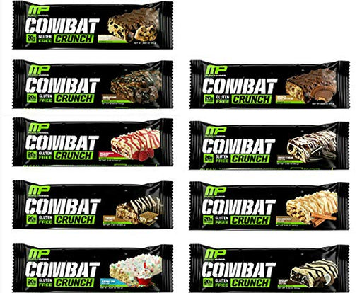 MusclePharm Combat Crunch Protein Bar, 9 Bars (1 of each Flavor)