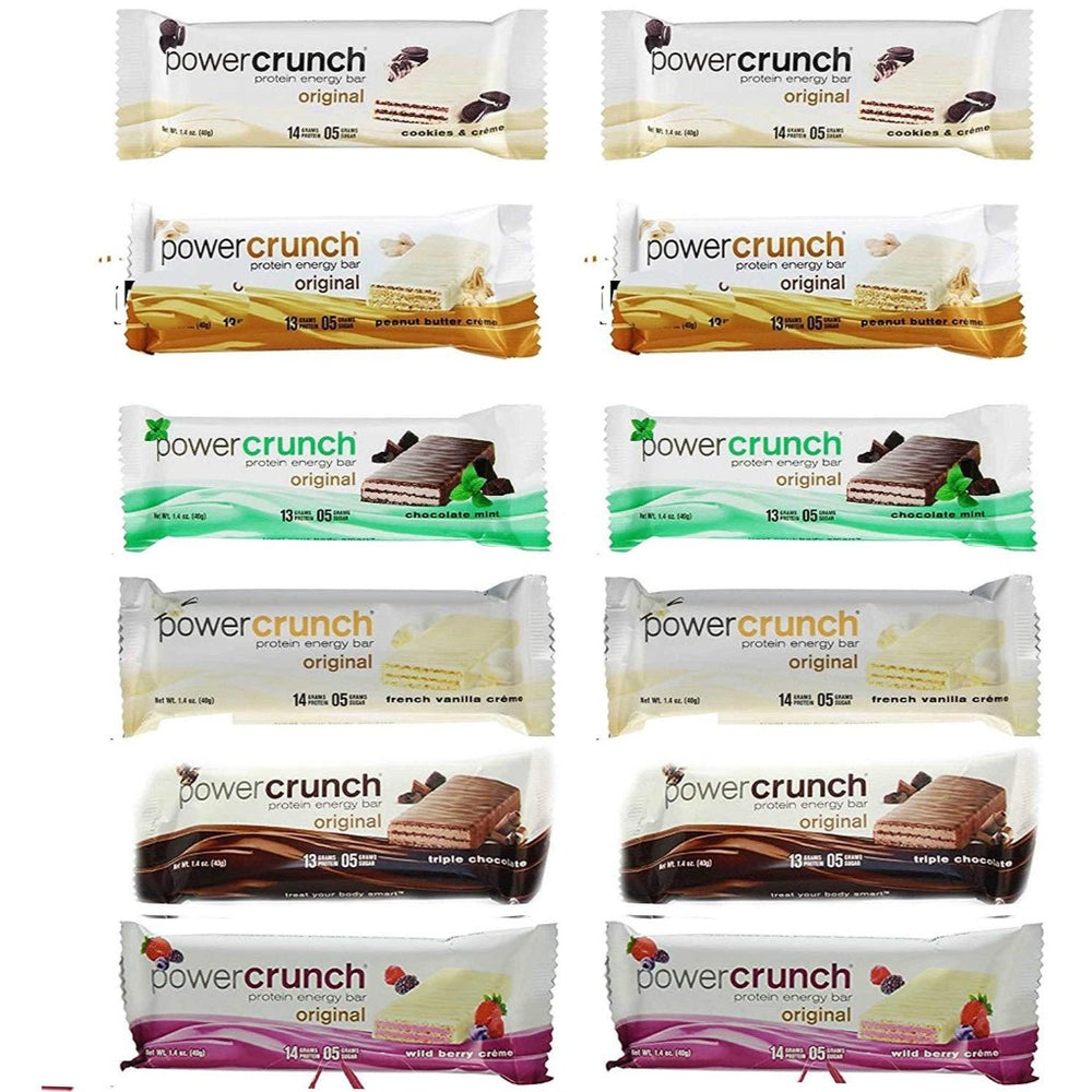 Power Crunch Variety Pack of 6 Delicious Flavors
