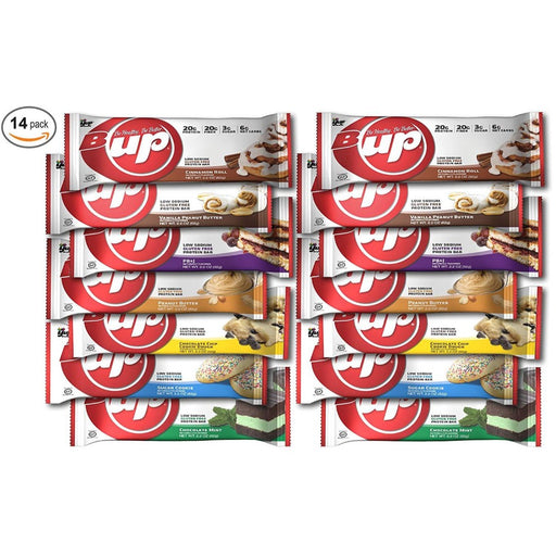 YUP BRANDS - B-UP Protein Bar 14 Count Variety Pack