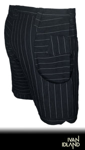Alternating Pinstripes Short