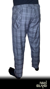 Grey and Black Plaid Pant