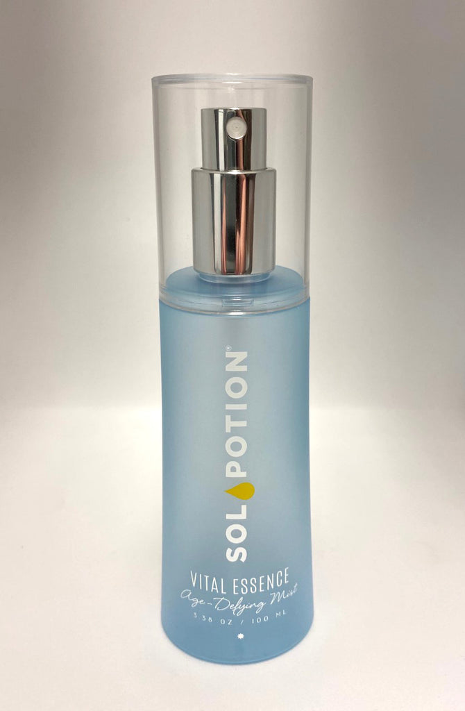 Vital Essence Age-Defying Mist bottle | Sol Potion Sunless Tanning | Best Spray Tan Solutions and Skincare
