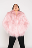 Huggle Faux Fur Jacket in Soft Pink