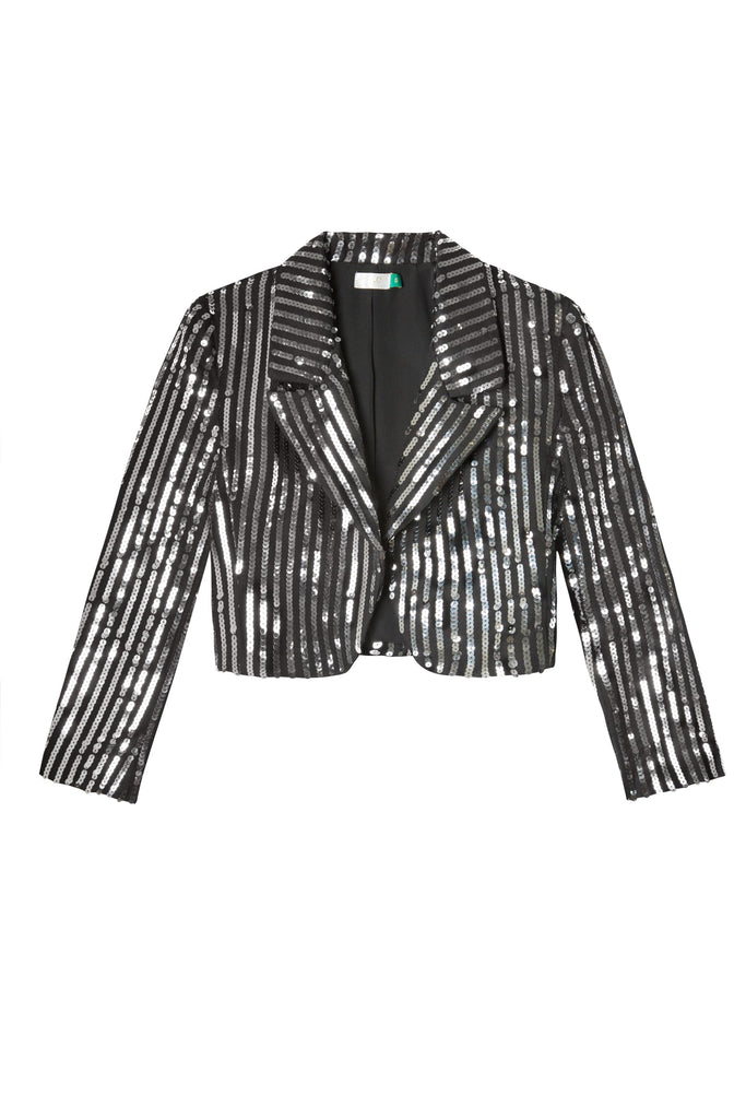 Charlie Sequinned Crop Jacket