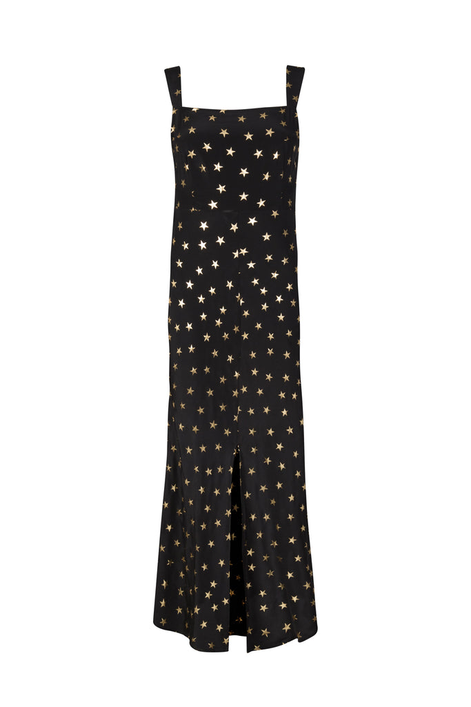 Tara Star Print Tie-Waist Dress