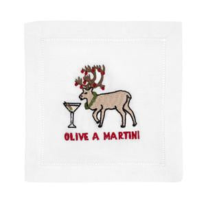 Olive A Martini Cocktail Napkin