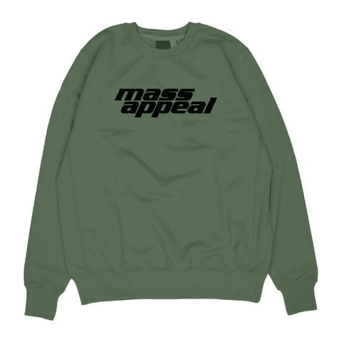 Military Green Logo Crewneck