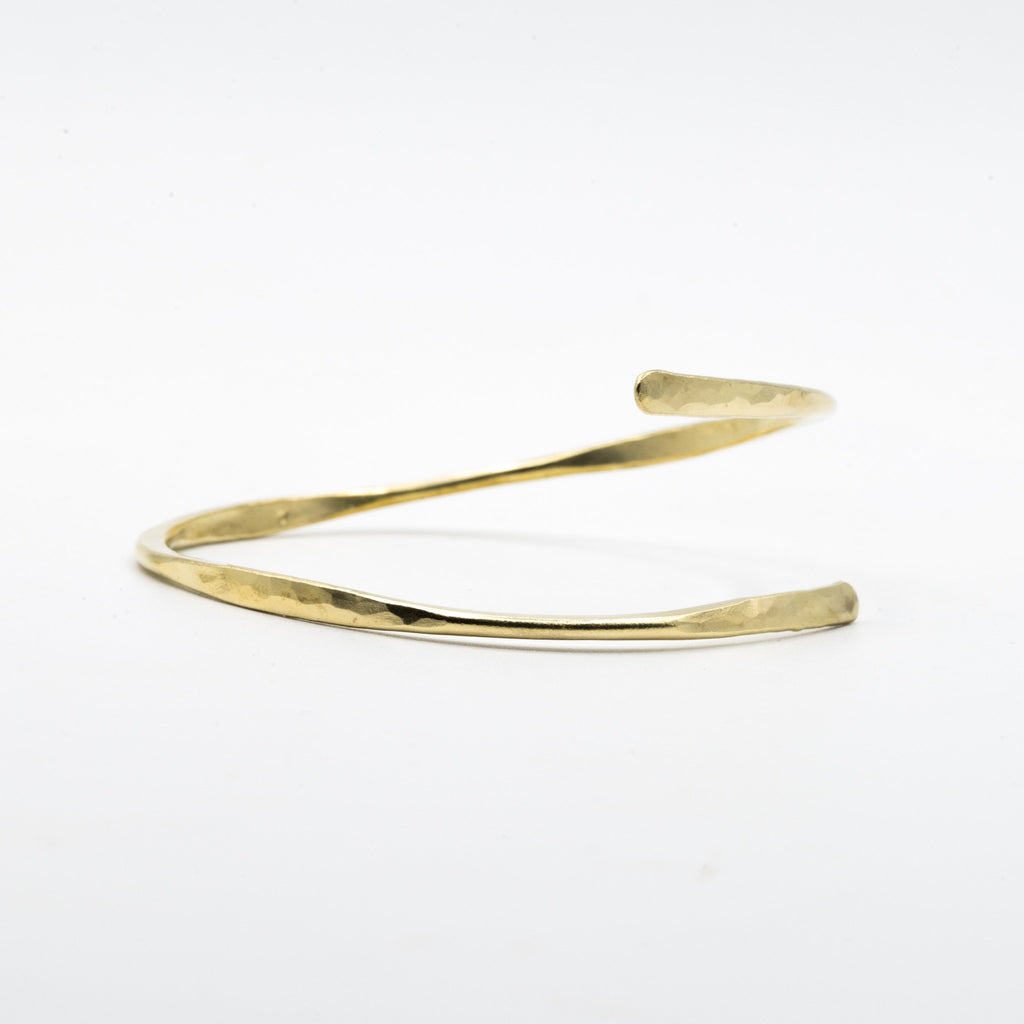 Brass bangle forged flatten