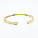 Brass cuff with flattened ends