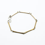 minimalist thing brass and silver bracelet