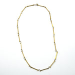 brass silver delicate chain necklace
