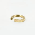 hand forged brass ring with three notches