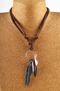 Leather Pendant Necklace - Aola Brand
