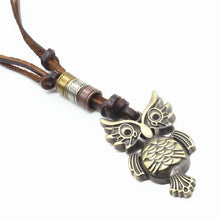 Brown Leather Vintage Necklace - Aola Brand