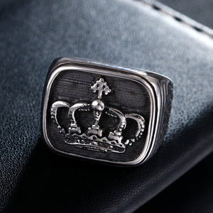 Crown Biker Ring - Aola Brand