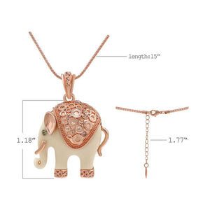 Rhinestone Elephant Necklace - Aola Brand