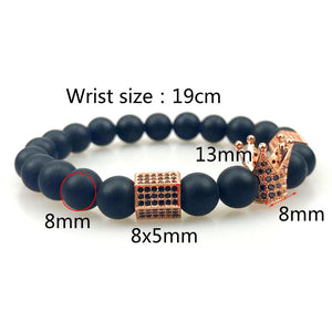 Crown & Double Skull Bracelet - Aola Brand