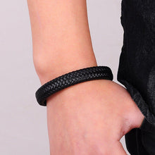 Black Braided Leather Bracelet - Aola Brand