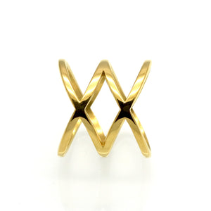 Double X Cross Ring - Aola Brand