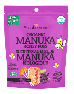 ORGANIC MANUKA HONEY POPS - GRAPE