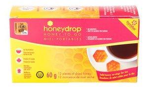 "completely free of additives. All of the natural honey flavor without any of the mess! Simply stir a Honey Dropâ""?into your favorite hot beverage and enjoy. The Honey Dropâ""?also makes a great dessert topping"