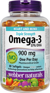 Omega-3 EPA/DHA 900 mg · Triple Strength