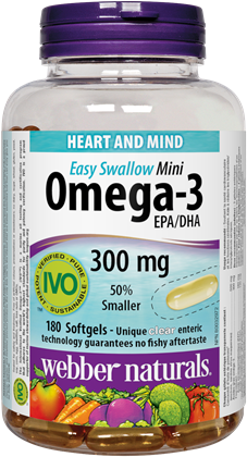 Omega-3 Mini 300 mg EPA/DHA · Easy Swallow