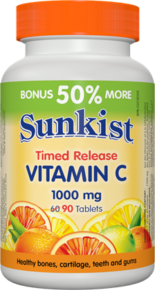 Sunkist® Vitamin C 1000 mg · Time Release