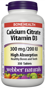 Calcium Citrate Vitamin D3 300 mg/200 IU · High Absorption