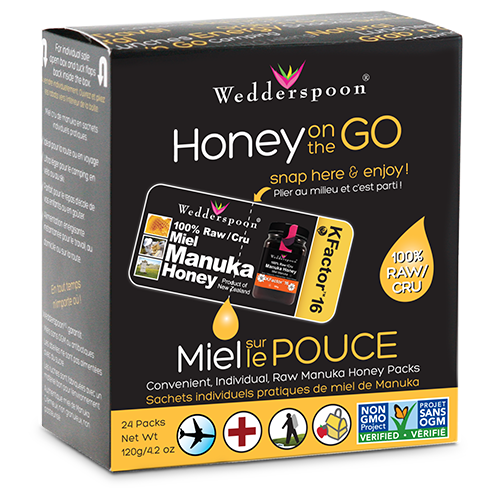 HONEY ON THE GO - MANUKA HONEY KFACTOR 16 HONEY PACKS (24/BOX) 120G/4 OZ