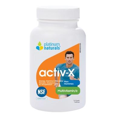 Platinum Multivitamin Activ-X for Men, 120 Softgels