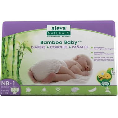Aleva Naturals Bamboo Baby Diapers