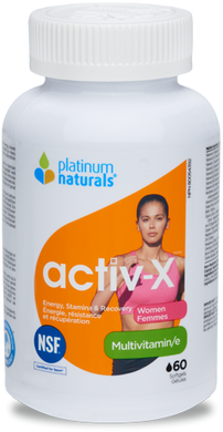 Platinum Multivitamin Activ-X Women, 120 Softgels
