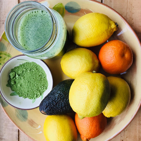 Matcha Green powder loose tea Grand River Tea smoothies