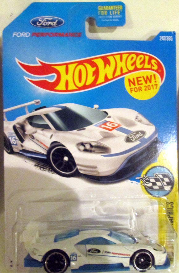 Tokaland Hot Wheels  White  Ford Gt Race
