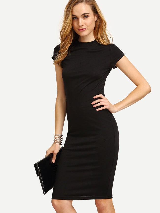 Work wear Solid Classic Bodycon Dress