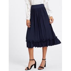Jewish Girl Box Pleated Ruffle Skirt