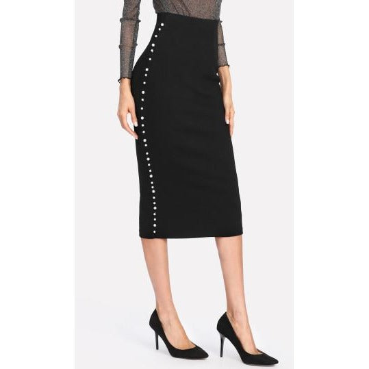 Jewish Girl  Pearl Beading Pencil Skirt