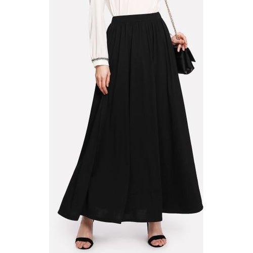 A-Line Skirt Full Length Black Maxi